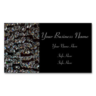 Crystals Reflections Magnetic Business Cards