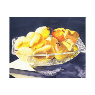 Crytal Bowl of Pears Canvas Print