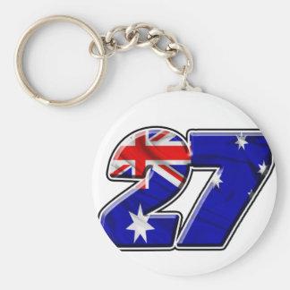 CS27flag Basic Round Button Key Ring