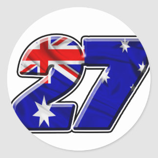 CS27flag Round Sticker