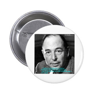 """CS Lewis """"Being Christian"""" Wisdom Quote Gifts 6 Cm Round Badge"""