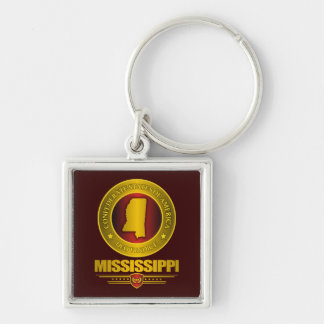 CSA Mississippi Silver-Colored Square Key Ring