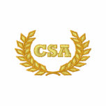 CSA with laurel (Embroidered) Embroidered Polo Shirt