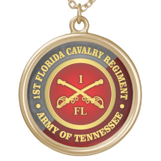 CSC -1st Florida Cavalry Gold Plated Necklace