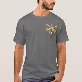 CSC -2nd Kentucky Cavalry (brass-red) T-Shirt