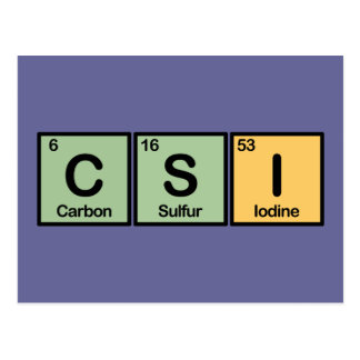 CSI made of Elements Postcard