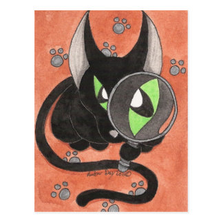 CSI Onyx Cat Postcard