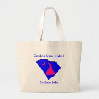csom southern belle, Carolina Stat... - Customized Large Tote Bag