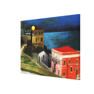 Csontvary - Full Moon in Taormina (detail) Canvas Print