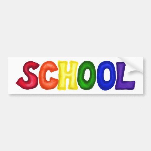 CSSW COLORFUL SCHOOL SCRAP-BOOKING GRAPHIC ART EDU BUMPER STICKER