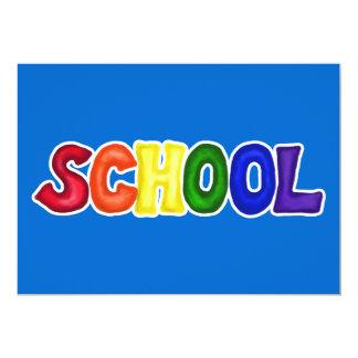 CSSW COLORFUL SCHOOL SCRAP-BOOKING GRAPHIC ART EDU CUSTOM INVITATIONS