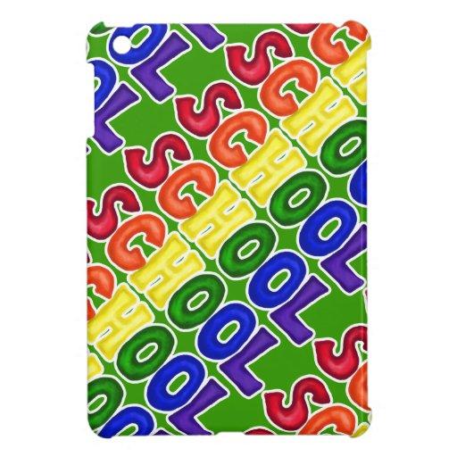 CSSW COLORFUL SCHOOL SCRAP-BOOKING GRAPHIC ART EDU iPad MINI CASES