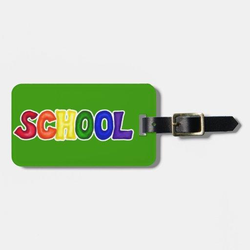 CSSW COLORFUL SCHOOL SCRAP-BOOKING GRAPHIC ART EDU BAG TAG