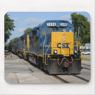 CSX 2696 leads Westbound CSX C729 Mouse Pad