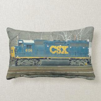 CSX Engine and Crossing Signal Pillow. Lumbar Cushion