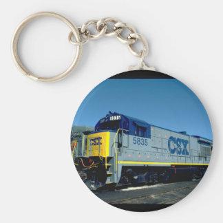CSX GE B36-7 #5835, 1990_Trains Key Ring