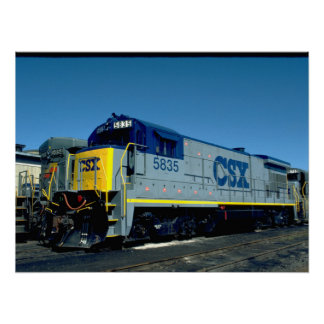 CSX GE B36-7 #5835, 1990_Trains Poster