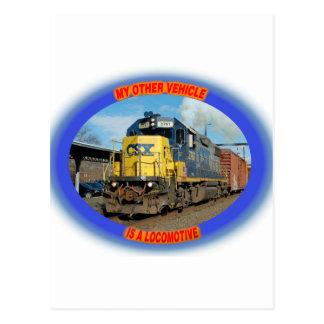 CSX Locomotive Postcard