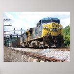 CSX Railroad AC4400CW #6 With a Coal Train Print
