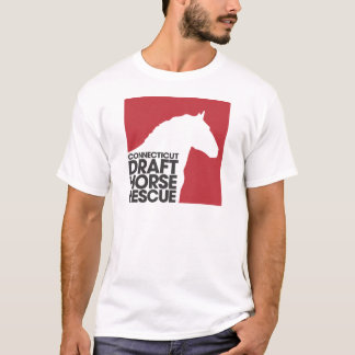 CT Draft Horse Rescue adult t-shirt