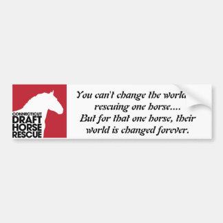 CT Draft Horse Rescue Bumper Sticker