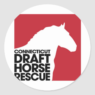 CT Draft Horse Rescue Classic Round Sticker