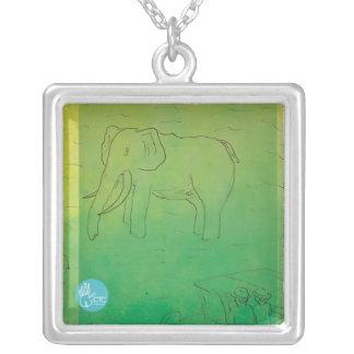 CTC International - Elephant Square Pendant Necklace