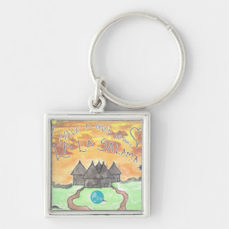 CTC International - Goodnight Silver-Colored Square Key Ring