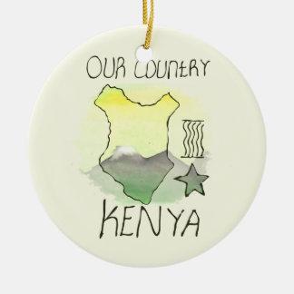CTC International - Kenya Round Ceramic Decoration