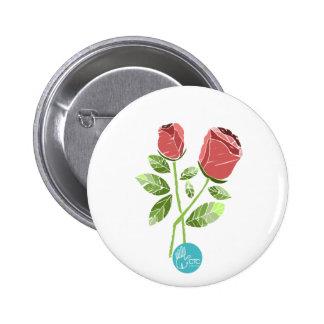 CTC International - Roses Pinback Button