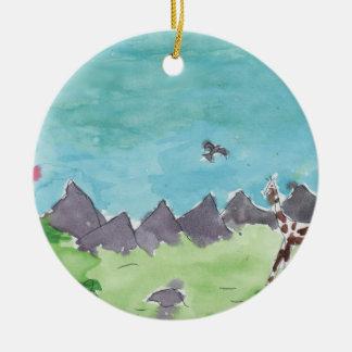 CTC International - Tribal Double-Sided Ceramic Round Christmas Ornament