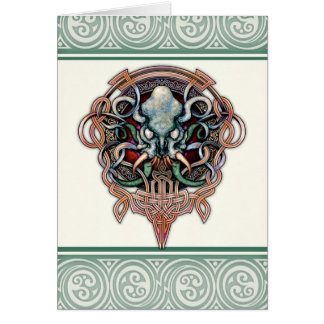 Ctheltic Cthulhu Greeting Card