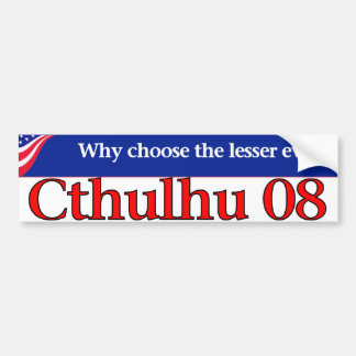 Cthulhu 08 car bumper sticker