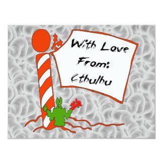 "Cthulhu Christmas 4.25"" X 5.5"" Invitation Card"