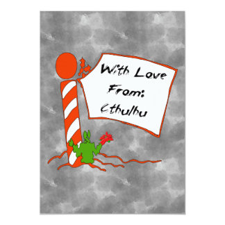 "Cthulhu Christmas 5"" X 7"" Invitation Card"