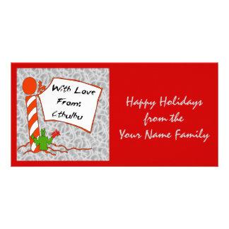 Cthulhu Christmas Photo Greeting Card