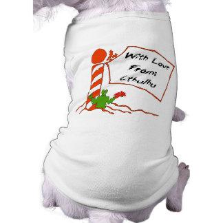 Cthulhu Christmas Sleeveless Dog Shirt
