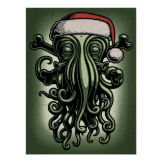 Cthulhu Claus Poster