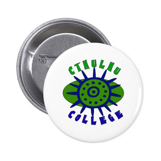 Cthulhu College Pinback Buttons