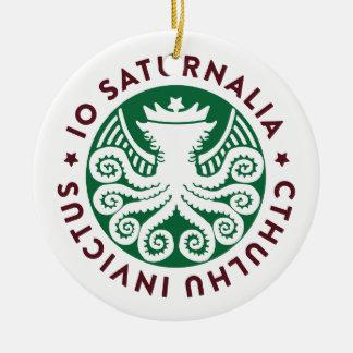 Cthulhu Declares War on Christmas Ceramic Ornament