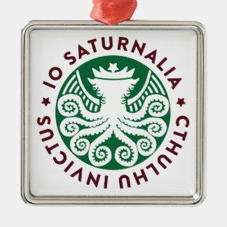Cthulhu Declares War on Christmas Metal Ornament