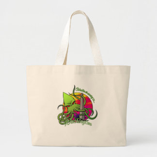 Cthulhu Eating the Obelisk on the Washington D.C. Large Tote Bag