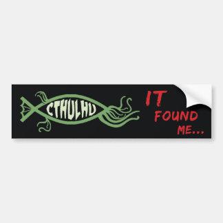 Cthulhu Fish Bumper Sticker - Lovecraft