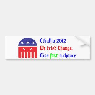 Cthulhu for President 2012 Bumper Sticker
