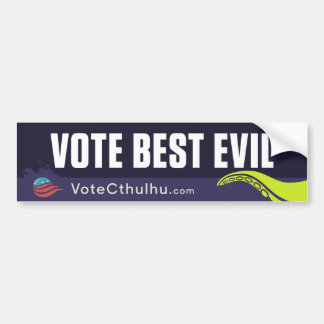 Cthulhu for President 2016 Vote Best Evil Bumper Sticker
