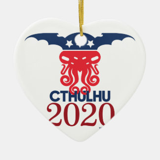 Cthulhu for President 2020 Ceramic Ornament