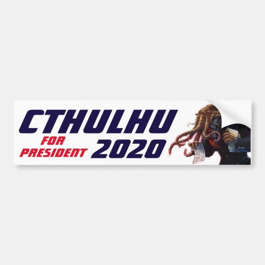 """Cthulhu for President 20XX"" Bumper Sticker"