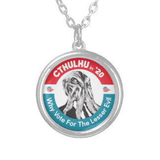 Cthulhu for President in '20 Silver Plated Necklace