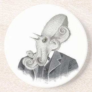 Cthulhu Gentleman Vintage Illustration Coaster