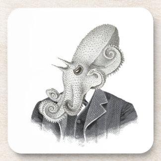 Cthulhu Gentleman Vintage Illustration Coaster Set